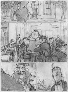 Storyboard Examples, Animation Storyboard, Art Et Illustration, Character Illustration, Jorge Gonzalez, Comic Frame, Comic Layout, Graphic Novel Art, Bd Comics