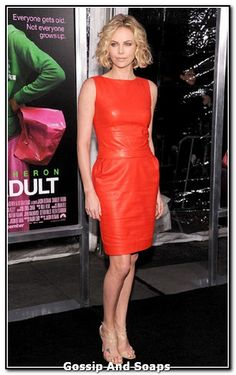 C. Theorn in Christian Dior leather Dress and Jimmy Choo shoes