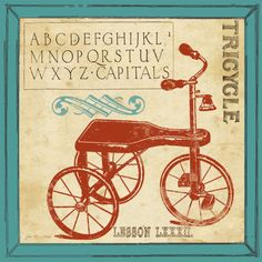 tricycle nursery | Vintage Art Food Costume & Fashion Places Beverages Transportation ...