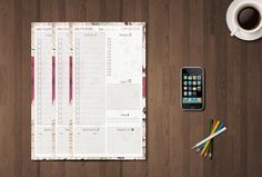 Printable Daily Planner for Filofax Personal di GraphicWithLove