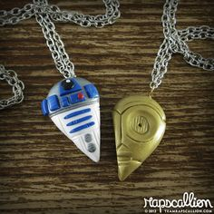The R2-D2 & C-3PO Friendship Necklace For Geeky Besties
