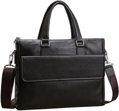Iswee Business Leather Briefcase Tote Shoulder Bag Messenger 14' in Laptop Case for Men ** See this great image  : Christmas Luggage and Travel Gear