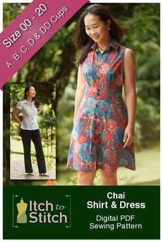The Chai Shirt and Dress is a classic fit-and-flare style that flatters everyone. You can use a floral fabric for a vintage flair, or use a bright fabric for a modern look. Whether on a family picnic or girlfriend outing, you will be sure to receive many compliments in your Chai Shirt or Shirt Dress! …