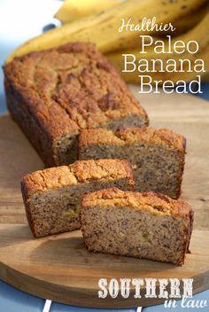 The Best Healthy Paleo Banana Bread Recipe - low fat, gluten free, low sugar, refined sugar free, low carb, dairy free, grain free #paleo #bread #banana
