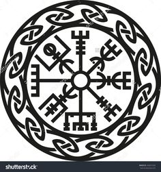 Royalty-free Vegvisir, Icelandic Compass, Protection #246651028 ...