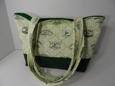 John Deere Quilted Purse  Quilted Tote  Market by Nanasewingroom