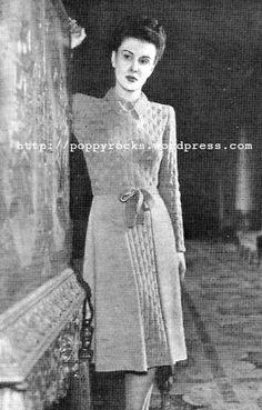 The Vintage Pattern Files: 1940's Knitting - July Dress