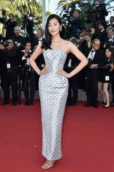 """Liu Wen in Ralph & Russo Couture with #Boucheron jewels  - """"The Little Prince"""" Premiere - The 68th Annual Cannes Film Festival #Cannes2015"""