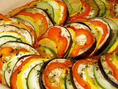Layered ratatouille, just like rats make. #MeatlessMonday
