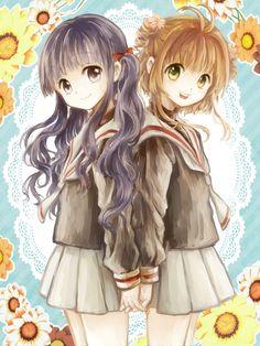 Kinomoto Sakura and Daidouji Tomoyo Anime Siblings, Anime Sisters, Friend Anime, Anime Best Friends, Pretty Anime Girl, Kawaii Anime Girl, Chica Anime Manga, Manga Girl, Tomoyo Sakura