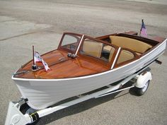 The owner of a 1958 Lyman 16 foot Runabout Wood boat restored and donated the boat to NPR's Car Talk Vehicle Donation Program. Speed Boats, Power Boats, Classic Wooden Boats, Classic Boat, Lyman Boats, Boat Restoration, Runabout Boat, Boat Engine, Boat Projects