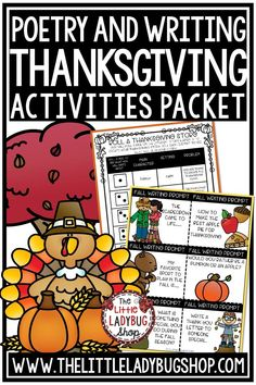 You will love these Thanksgiving Activities for your students in 2nd grade, 3rd grade, and 4th grade. This is a No Prep easy to use Reading, Writing and Poetry Activities for your students! I love the fall season and Thanksgiving Activities. Perfect for students in 3rd grade, 4th grade and home school classrooms. Thankful Writing #thanksgivingwriting #thanksgivingactivities #thanksgivingpoetry