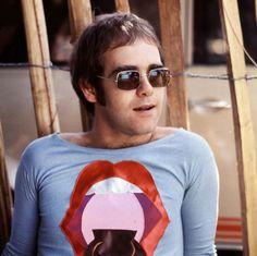 Pre-glam Elton John, 1971, by Michael Putland
