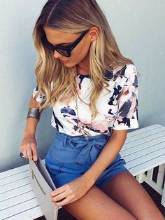 30 Chic Summer Outfit Ideas - Street Style Look. Style Outfits, Casual Outfits, Cute Outfits, Fashion Outfits, Spring Summer Fashion, Spring Outfits, Stylish Summer Outfits, Looks Pinterest, Mein Style