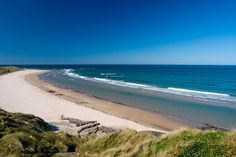 Seahouses Beach, north of Alnwick, within the Northumberland Coast Area of Outstanding Natural Beauty. Best Beaches In England, British Beaches, Uk Beaches, British Seaside, British Isles, Northumberland England, Visit Uk, British Travel, Northern England