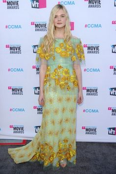 Elle Fanning in Rodarte at the Critic's Choice Awards