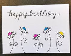 Handgetekende Happy Birthday To je wenskaart  door TomDickandMary