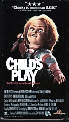 Child's Play VHS Movie Catherine Hicks, Chris Sarandon, Chucky Horror, Suspense by BusyQueen