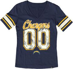 San Diego Chargers Womens Blue Stripe V-Neck T-Shirt $30.99 http://shop.chargers.com/San-Diego-Chargers-Womens-Blue-Stripe-V-Neck-T-Shirt-_-424486278_PD.html?emailid=041613_SDC_TopStyles=pinterest_pfid22-40795