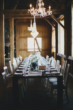 Such a stunning reception table. | Ali V Photography | See more of this ranch chic wedding from mywedding magazine here: http://publications.mywedding.com/i/447059/25