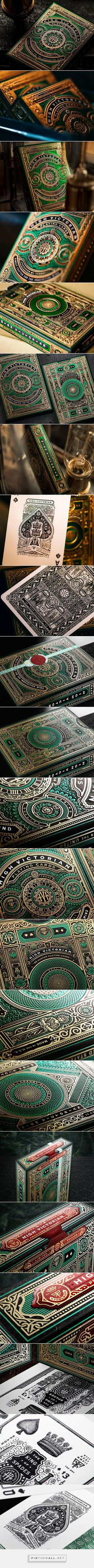 """""""Over 18 months in the making - and it shows."""" theory11 High Victorian Playing Cards packaging design by Joe White - https://www.packagingoftheworld.com/2018/03/high-victorian-playing-cards.html"""