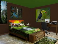 RainForest Wall Murals, come visit the jungle any time you like. Take a look at our Rainforest designs at http://www.visionbedding.com/WallMurals/RainForest.php
