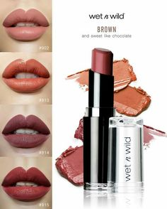 wet n wild Bare It All Sand Storm MochaLicious Spiked With Rum Colourpop Lipstick, Drugstore Makeup Dupes, Lipsticks, Beauty Dupes, Lipstick Swatches, Makeup To Buy, Kiss Makeup, Candy Makeup, Elf Makeup