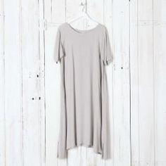 Crepe Side Panel Dress
