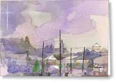 """""""Christmas Skyline""""  Available in prints and cards from Fine Art America."""