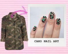 DIY Nail Art Guide: Camouflage Print! :: Company.co.uk