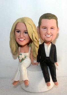 Wedding Cake Toppers Wedding Gift Wedding Anniversary Gift Wedding Bobbleheads