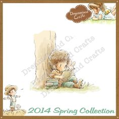 Dreamerland Crafts Cling Stamp - SPR14 Reading Away The Afternoon