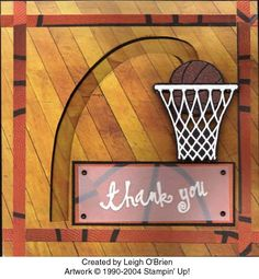 Basketball Spinner Card by leigh obrien - Cards and Paper Crafts at Splitcoaststampers