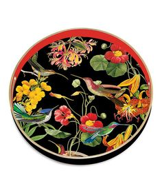 Take a look at this Flora Exotica Round Tray by Michel Design Works on #zulily today!