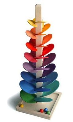 Musical Wooden Marble Tree - Large