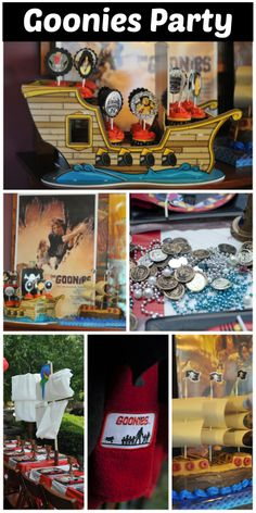 Terrific ideas at this Goonies pirate boy birthday party! See more party ideas at CatchMyParty.com. #movie