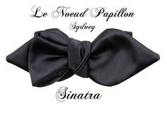 A new shape of bow tie from Le Noeud Papillon of Sydney - The New Sinatra...