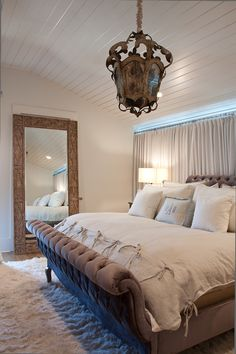 French bedrooms beams and wood beams on pinterest for Christine huve interior designs
