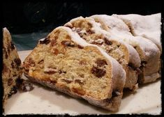 German Christmas Stollen - Authentic German recipe ... a melt-in-your-mouth Stollen from my grandma German Christmas Stollen Recipe, Christmas Bread, Christmas Cooking, Christmas Desserts, German Stollen, Christmas Holiday, German Desserts, Just Desserts, German Recipes