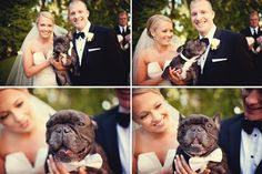 This WILL happen at my wedding. Except in might be an English bulldog instead of French. I'll still take the French bulldog though c: