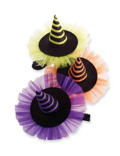 Halloween Hats for little ones.Mud Pie Trick or Treat Witch Hat Soft Headband-mud pie, holiday, trendy, baby boutique,Witch Hat Soft Headband by Mud Pie - This is a must have for Halloween for your little girl to wear all month long!Witch Hat Soft He Halloween Hair Bows, Holidays Halloween, Happy Halloween, Diy Halloween Decorations, Halloween Crafts, Halloween Witches, Halloween Halloween, Adornos Halloween, Diy Hair Bows
