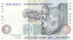 Bank note of South Africa for 10 Rand. South African Art, Out Of Africa, World Coins, African Animals, Afrikaans, Japanese Culture, First Love, Euro, Stamp