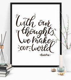 #buddha #motivationalwallart #wallart #buddhaart #quoteposter #Typography Print