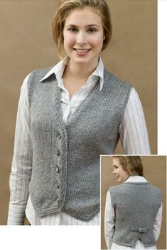 Versatile Vest Knitting Patterns Free Knitting Pattern for Vested and Stylish - Classic buttoned vest in bust sizes Designed by Kathleen Sams for Red Heart Baby Knitting Patterns, Knitting Designs, Knitting Patterns Free, Free Knitting, Crochet Patterns, Free Pattern, Jumpers For Women, Cardigans For Women, Knit Vest Pattern