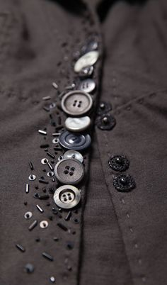 Alabama Chanin - Betsy Blazer with Vintage Buttons