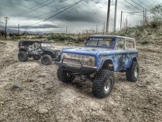 Vaterra Ascender Bronco and Axial Racing SCX10 Rubicon