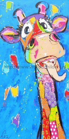 schilderij-van-liz-giraffeii