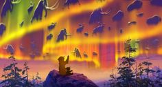 My favorite northern lights  *KENAI & KODA ~ Brother Bear (2003)... watching their ancestors in an Aurora (Northern Lights)