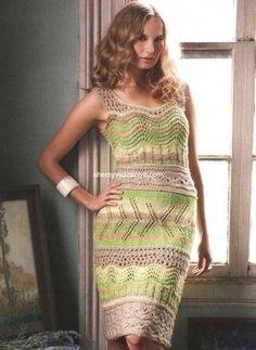 Платье из ажурных полос