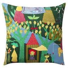 Garden of Eden pillow cases, part of the colorful Art Collection from Design House Stockholm, has a pattern designed by the world famous artist Stig Lindberg in the 50s.